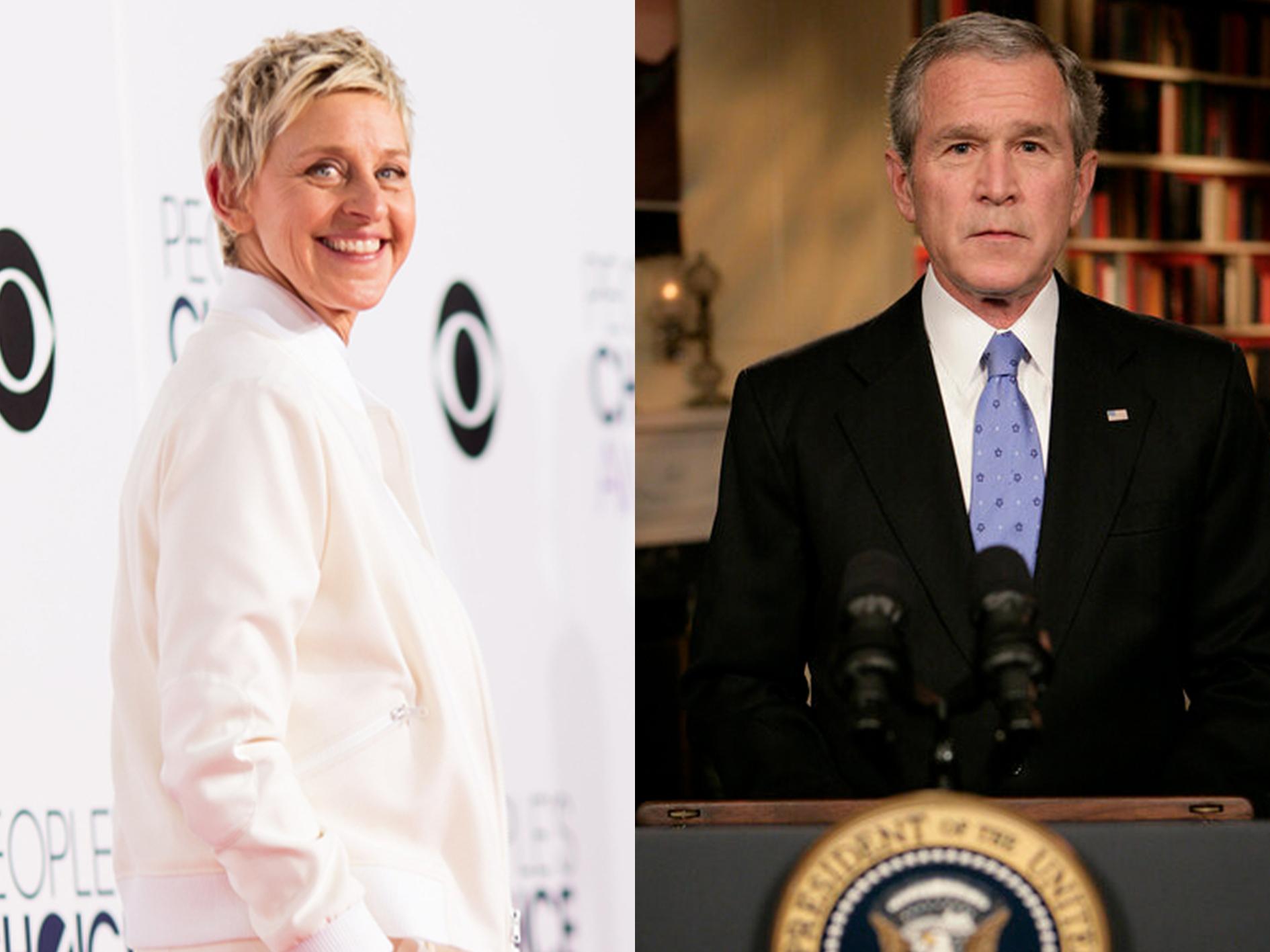 Ellen DeGeneres George W Bush 25 Things You Didn't Know About Ellen DeGeneres