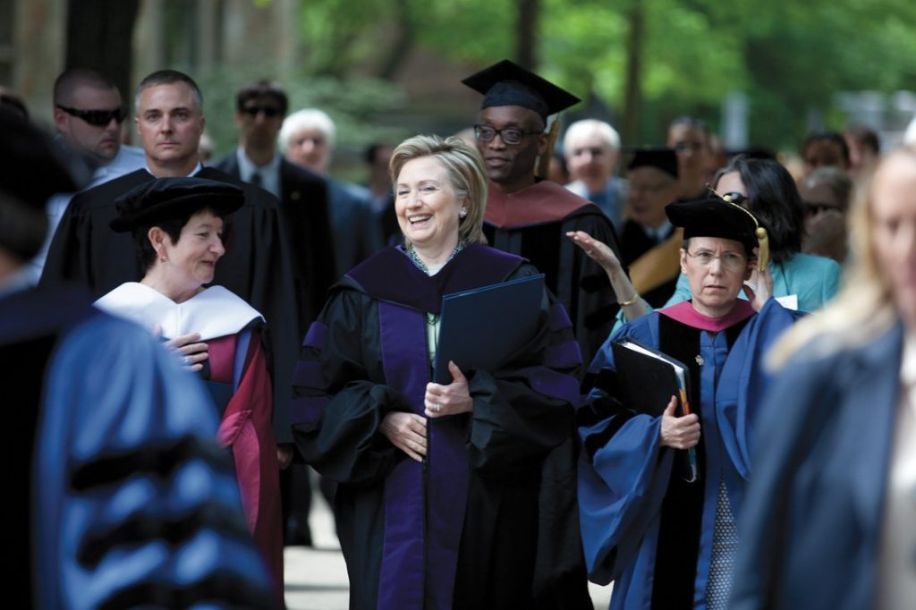 JA09 commencement hillary 33 Celebrities You Didn't Know Used To Be Teachers