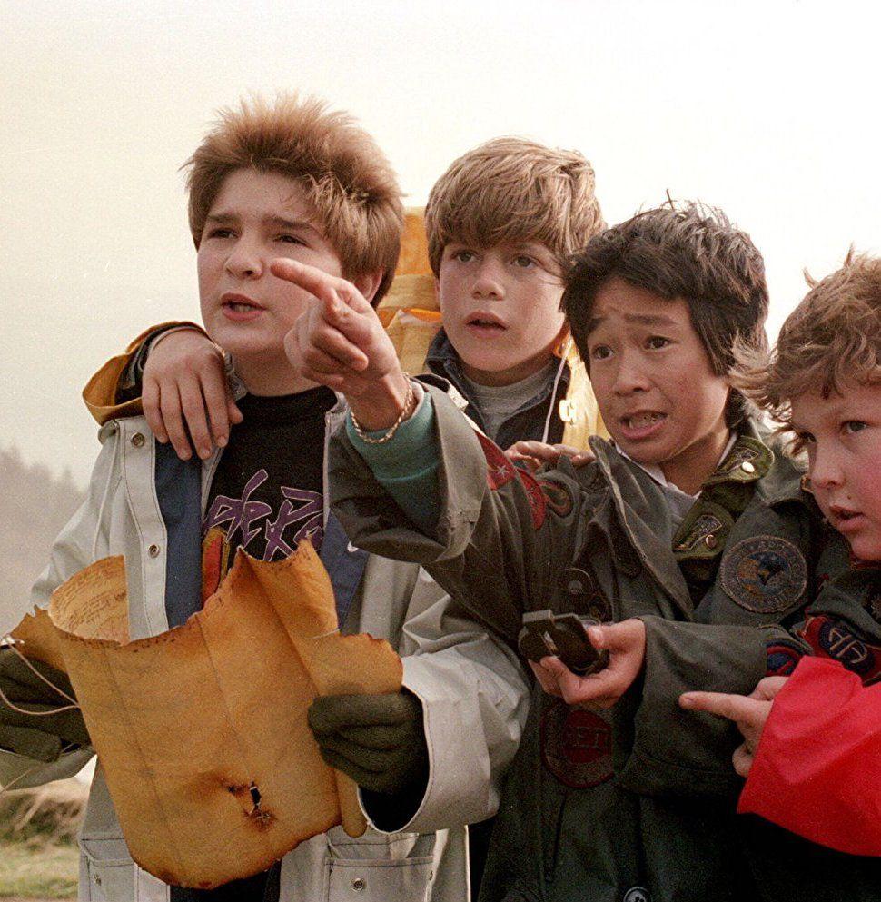 The Goonies treasure map, Corey Feldman, Sean Astin, Jonathan Ke Huy Quan