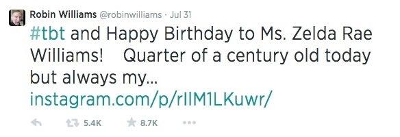 Robin Williams Last Tweet The 30 Most Haunting Final Tweets By Celebrities