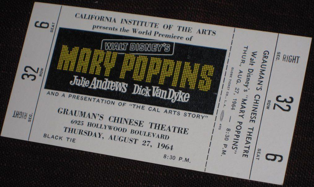 marypoppins ticket2 23 Things You Didn't Know About Mary Poppins