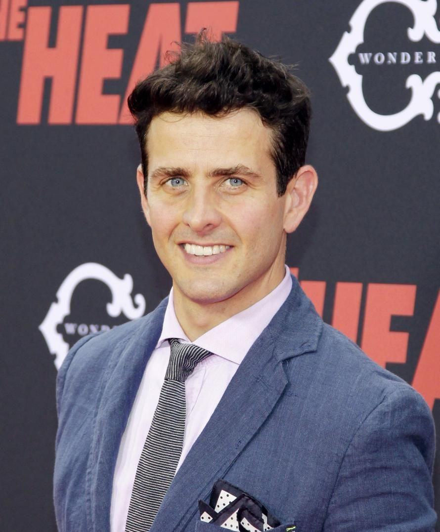 Joey McIntyre on the red carpet at the 2013 premiere of The Heat