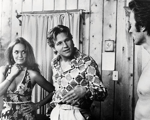 Catherine Bach as Melody, with Jeff Bridges and Clint Eastwood in Thunderbolt and Lightfoot