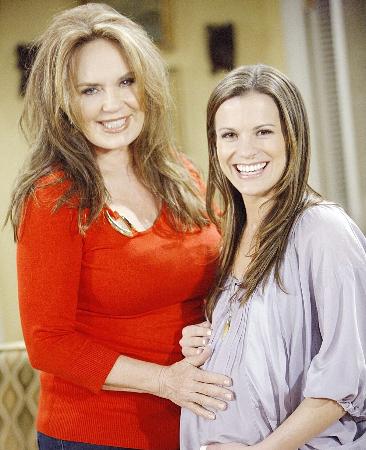 Catherine Bach with Melissa Claire Egan on The Young and the Restless