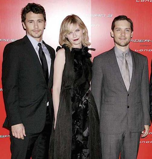 71617 james franco kirsten dunst tobey 950x0 1 27 Things You Didn't Know About The Spider-Man Films