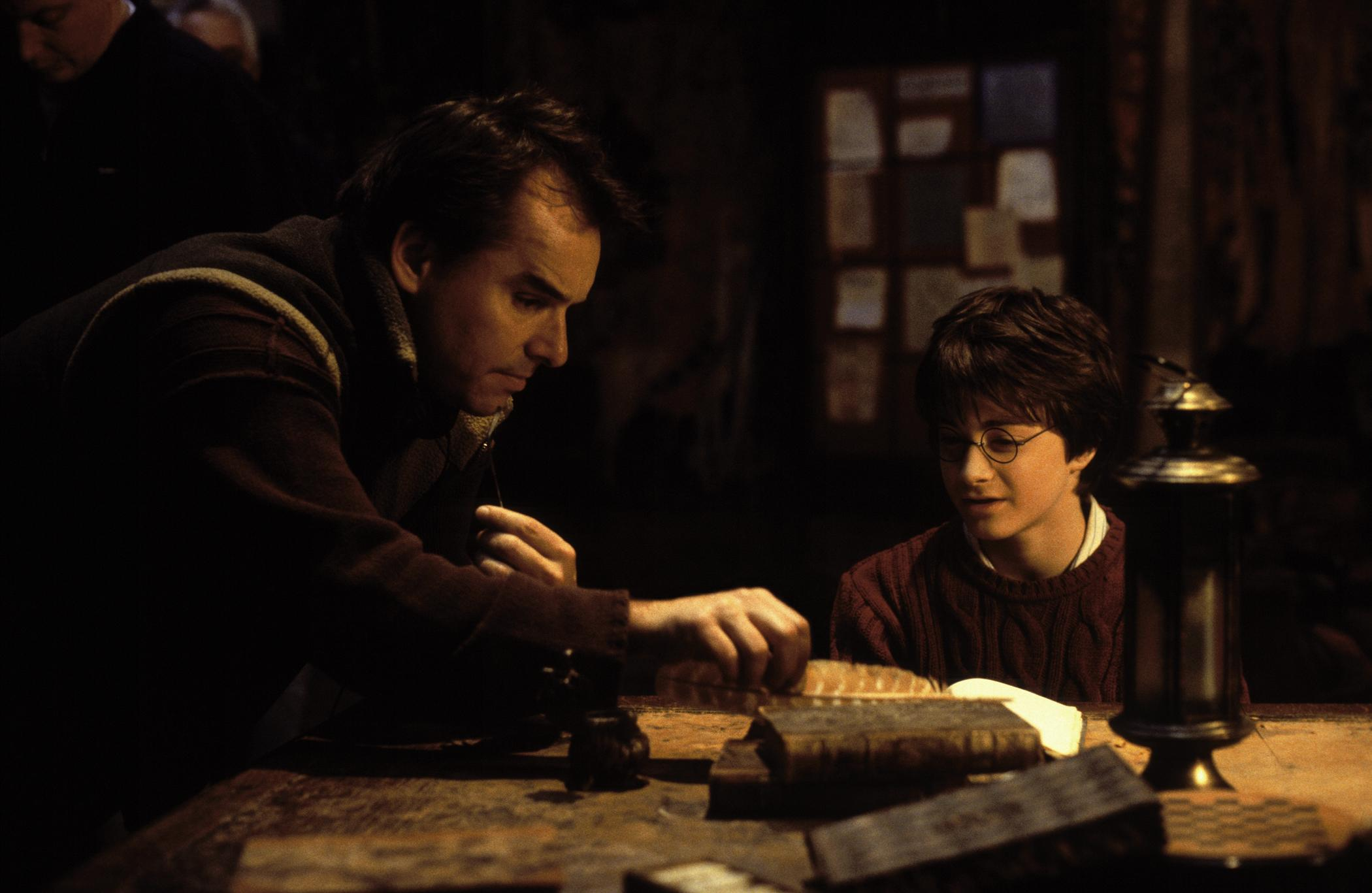 Chris Columbus Daniel Radcliffe on set Harry Potter The Chamber of Secrets camera 20 Things You Might Not Have Realised About The Goonies