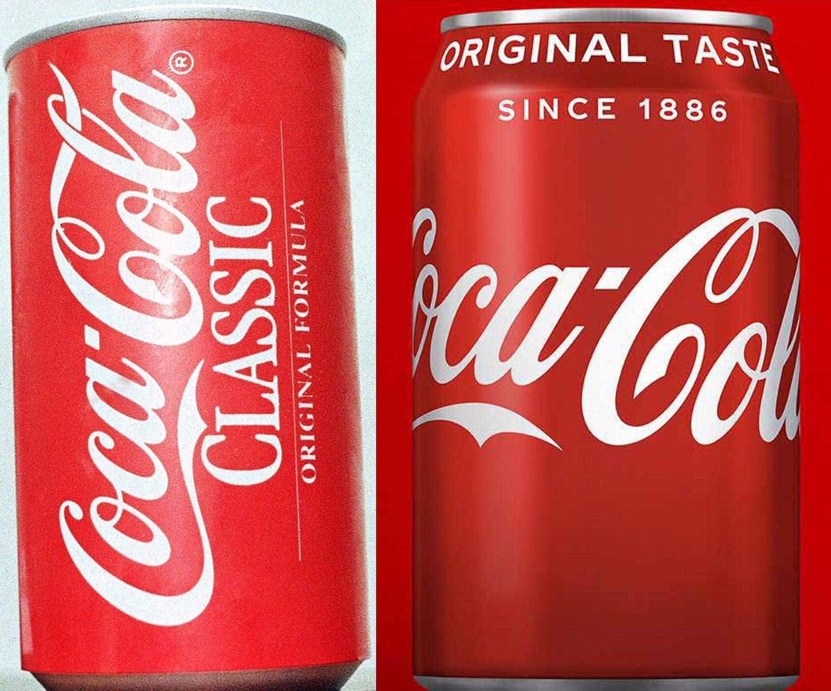 Coca Cola e1628074622264 You Won't Believe How The Packaging Has Changed On Your Favourite Snacks