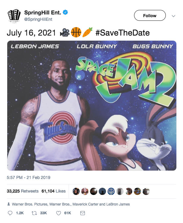 Screen Shot 2019 02 22 at 09.48.33 Space Jam 2 Finally Has A Release Date