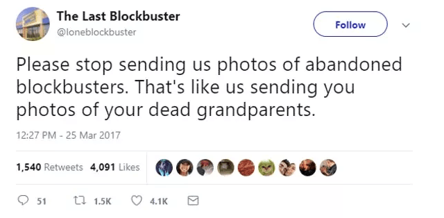 Screen Shot 2019 02 27 at 10.00.50 The World's Last Blockbuster Is Still Going And Posting Hilarious Tweets