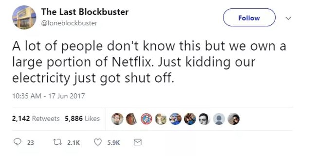 Screen Shot 2019 02 27 at 10.01.07 1 The World's Last Blockbuster Is Still Going And Posting Hilarious Tweets