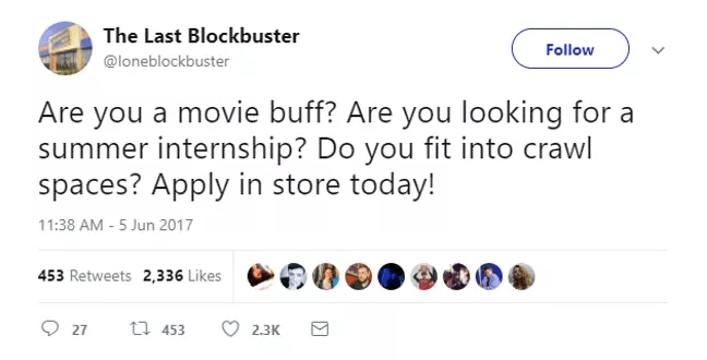 Screen Shot 2019 02 27 at 10.01.26 The World's Last Blockbuster Is Still Going And Posting Hilarious Tweets