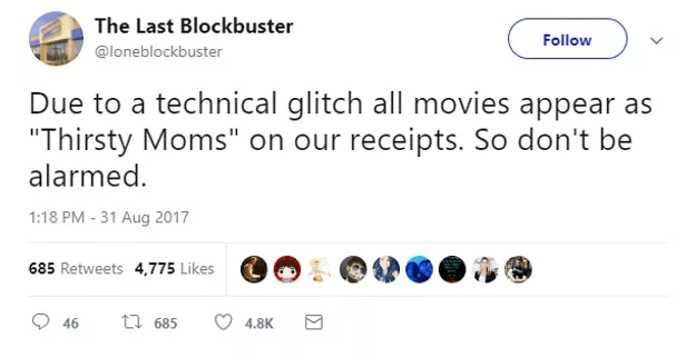 Screen Shot 2019 02 27 at 10.01.49 The World's Last Blockbuster Is Still Going And Posting Hilarious Tweets