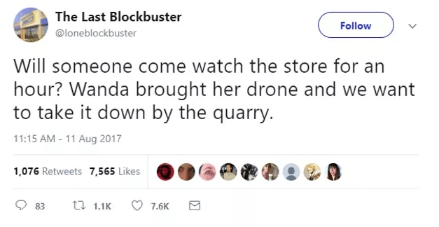 Screen Shot 2019 02 27 at 10.02.07 The World's Last Blockbuster Is Still Going And Posting Hilarious Tweets