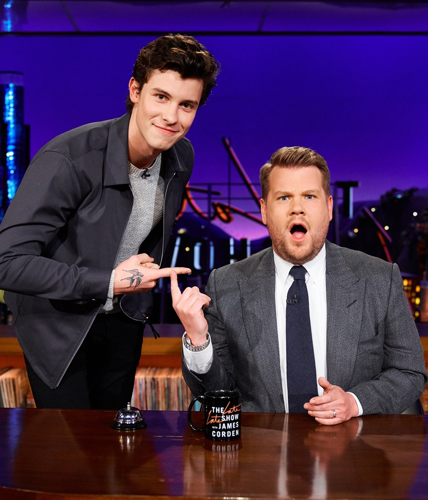 Shawn Mendes and james corden 2018 march billboard 1548 25 Things You Didn't Know About James Corden