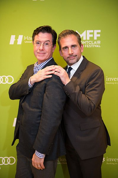 Stephen Colbert and Steve Carell November 2014 10 Things You Never Knew About Stephen Colbert