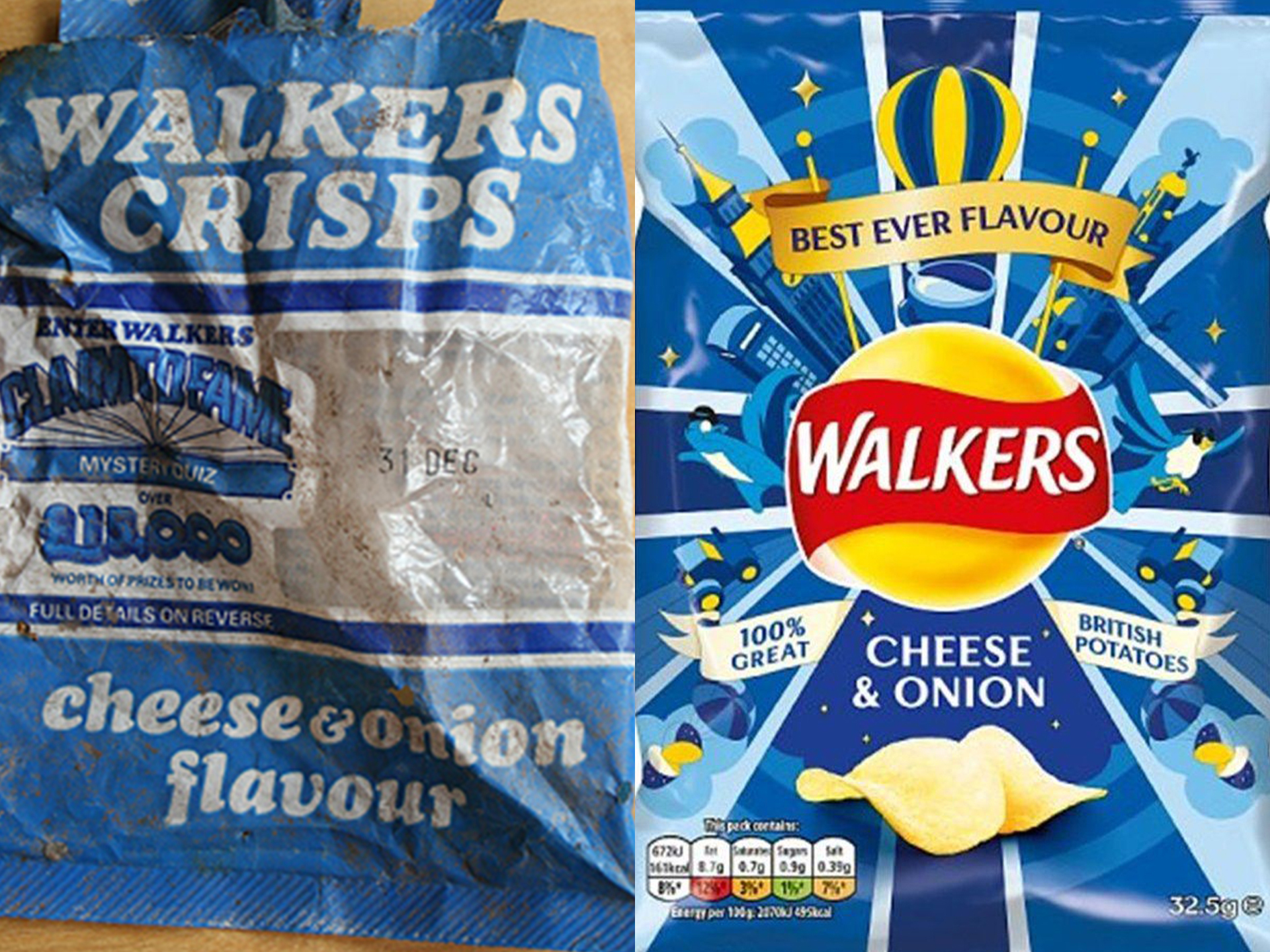 Walkers You Won't Believe How The Packaging Has Changed On Your Favourite Snacks