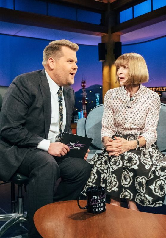 anna wintour at late late show with james corden 10 25 2017 4 25 Things You Didn't Know About James Corden