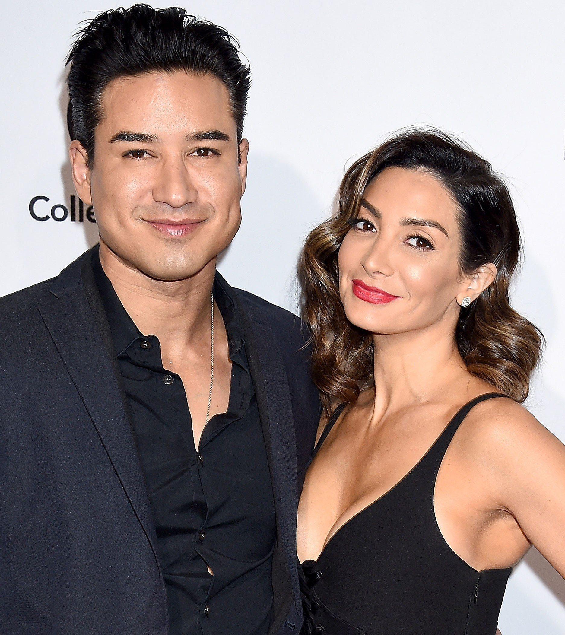 Mario Lopez with wife Courtney Mazza, 2019