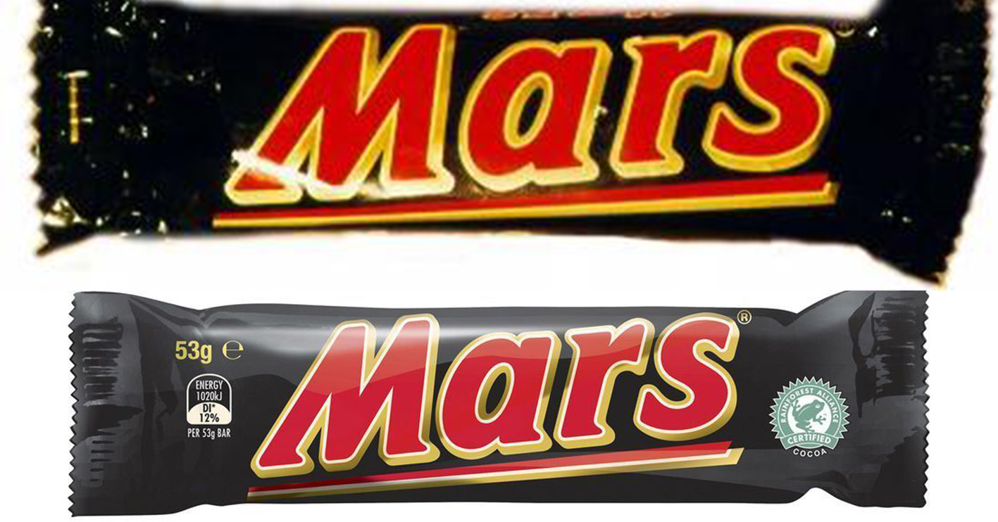 mars bar then and now You Won't Believe How The Packaging Has Changed On Your Favourite Snacks