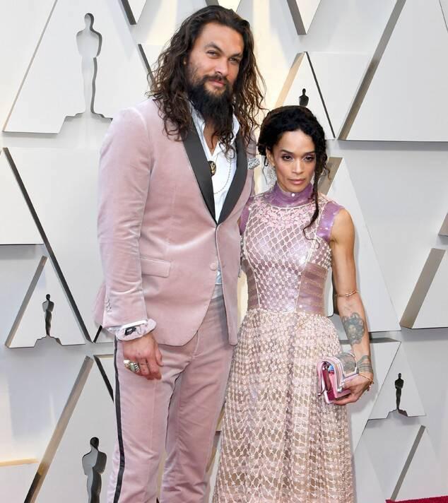 Jason Momoa with wife Lisa Bonet at 2019 Oscars