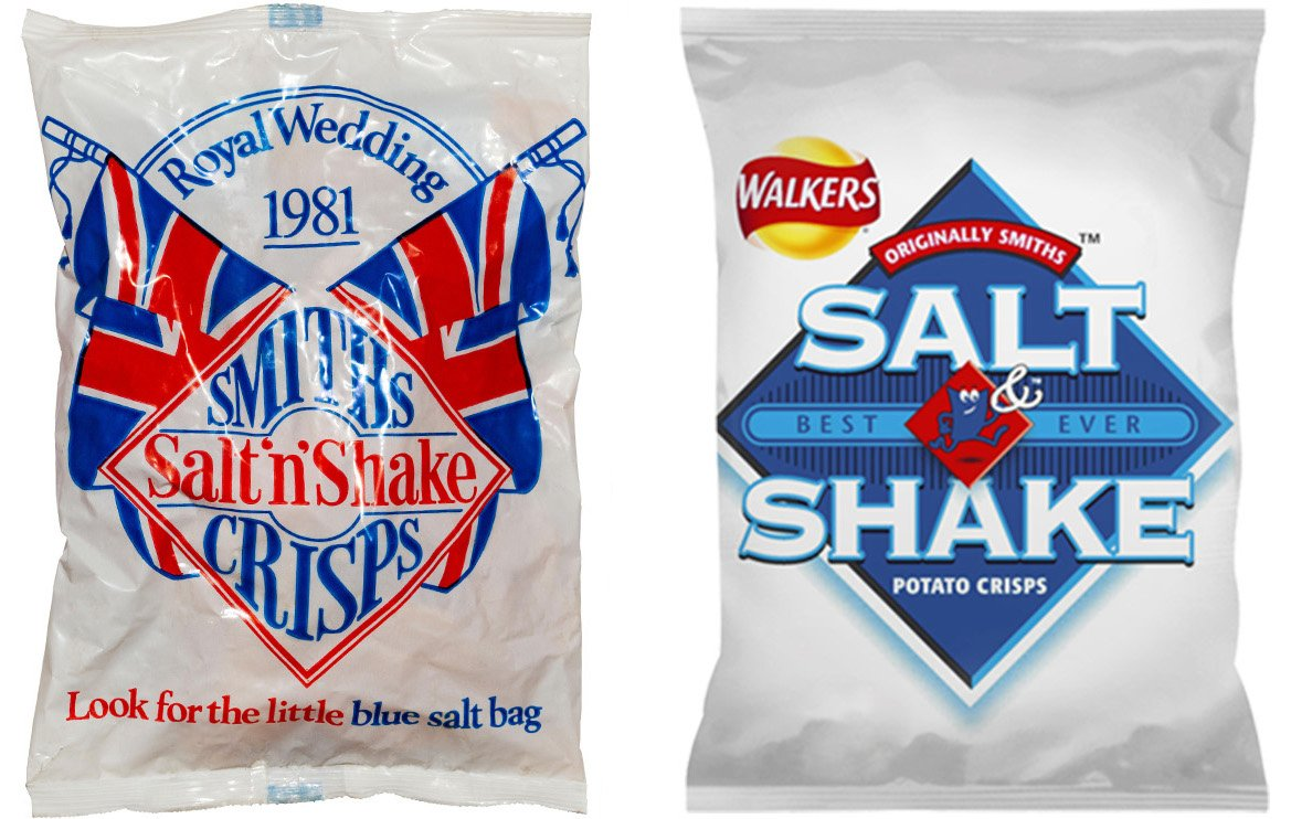 salt n shake crisps then and now You Won't Believe How The Packaging Has Changed On Your Favourite Snacks