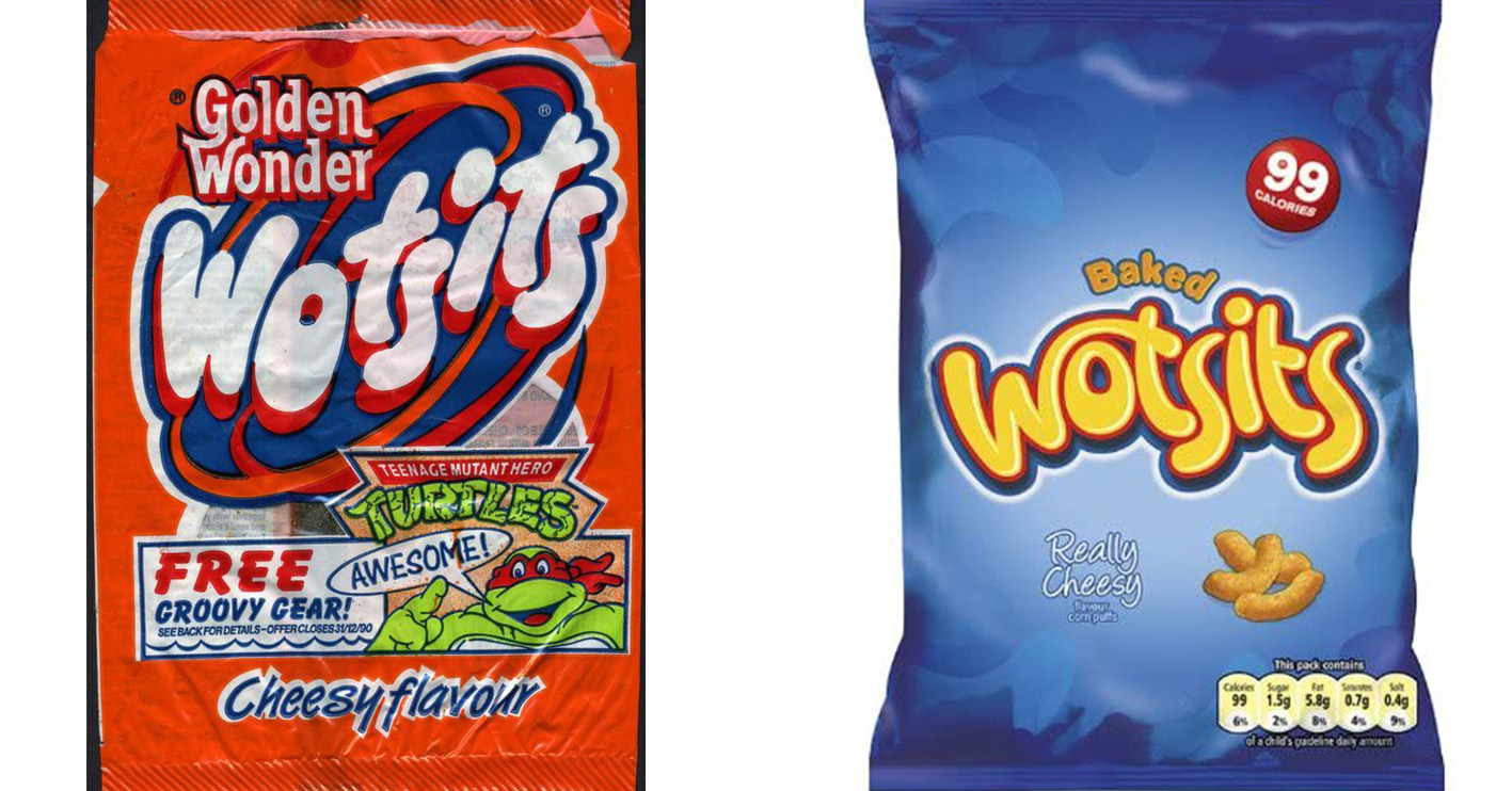 wotsits then and now You Won't Believe How The Packaging Has Changed On Your Favourite Snacks