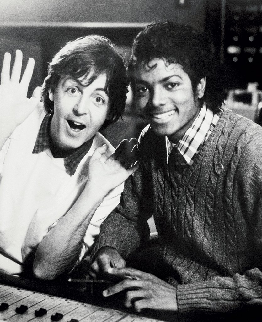 02 paul mccartney michael jackson bw bb1 2017 billboard 1548 20 Things You Didn't Know About Michael Jackson