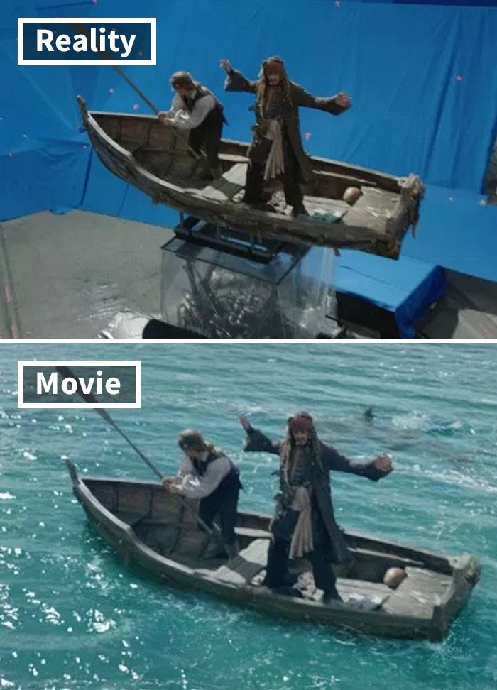 12 5c6d47cfce57f 700 17 Famous Movie Scenes Before And After CGI