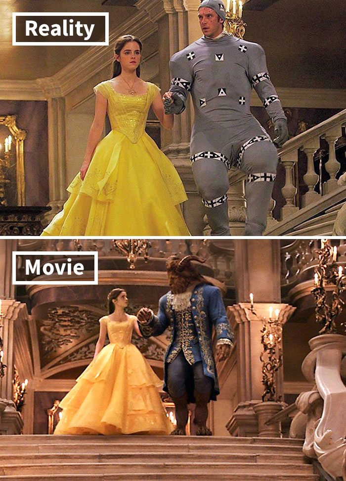 13 5c6d482422fd7 700 17 Famous Movie Scenes Before And After CGI