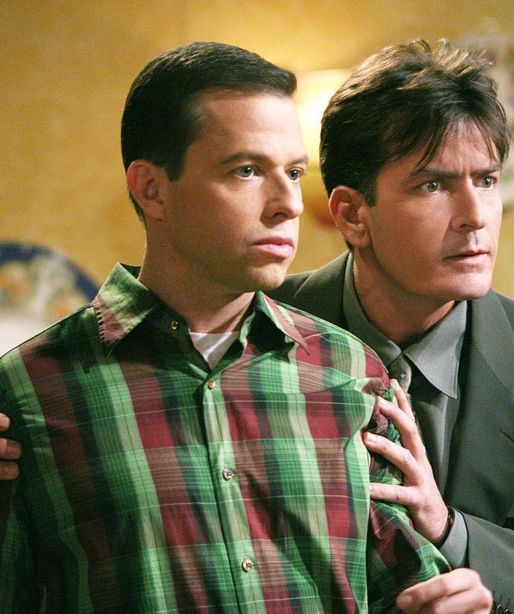 150318 news two half men cryer sheen Two And A Half Men's Jon Cryer Is Bald Now, Has A Beard