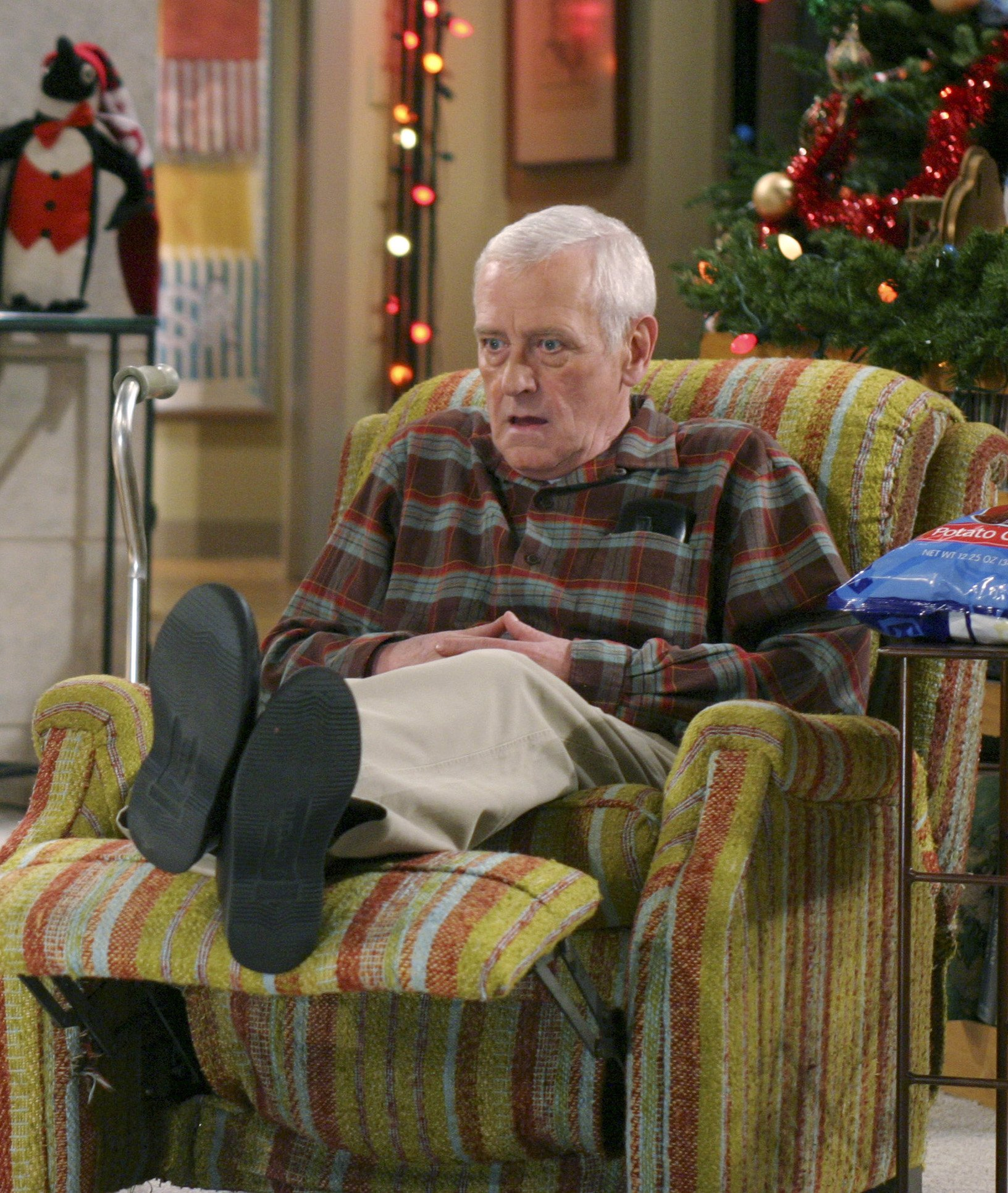 John Mahoney as Martin Crane in Frasier, recliner Christmas episode