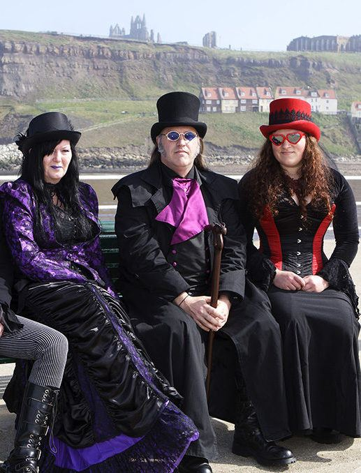 Goths enjoying a sunny day in Whitby