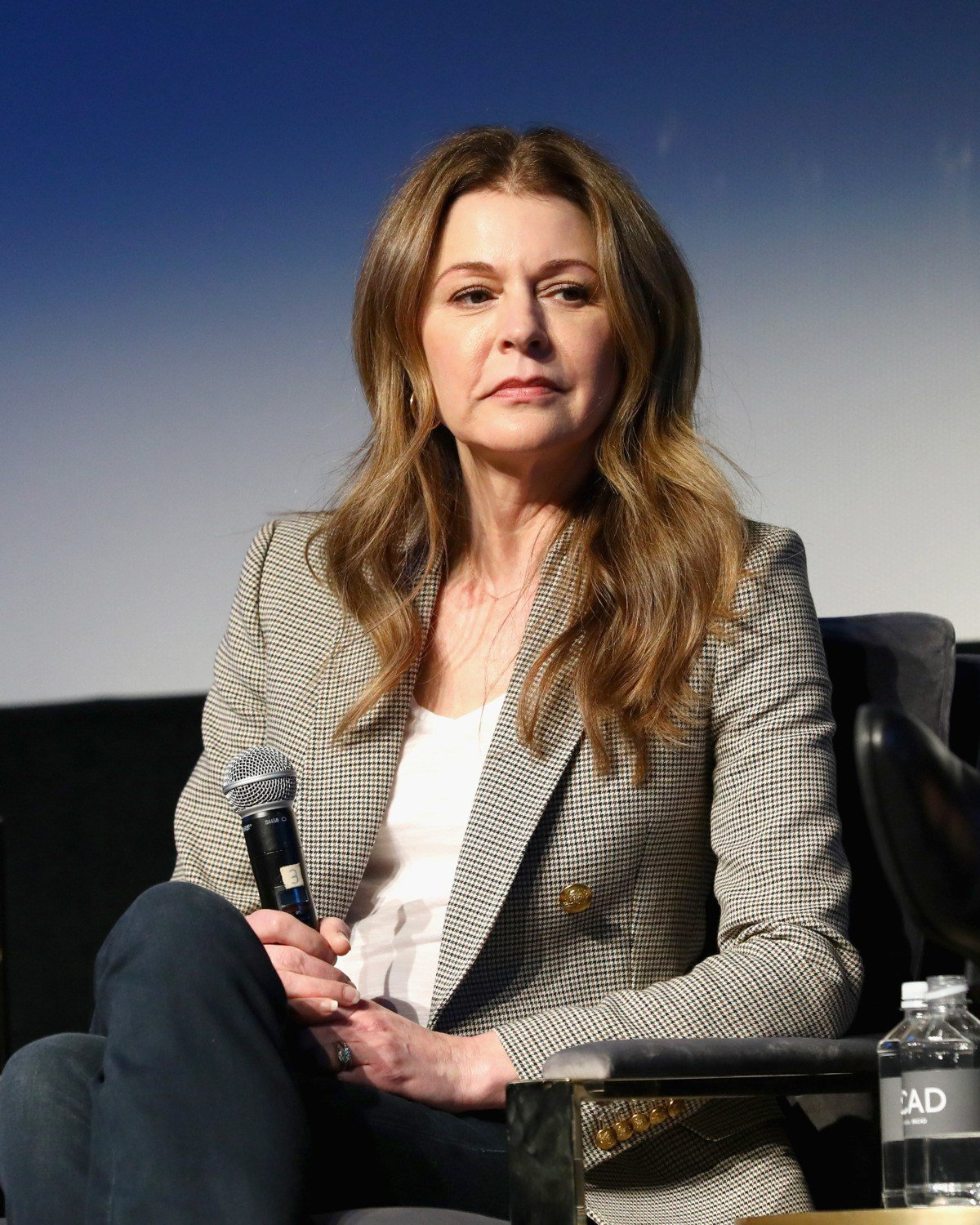 Janes Leeves at SCAD aTVfest in 2019 The Resident screening
