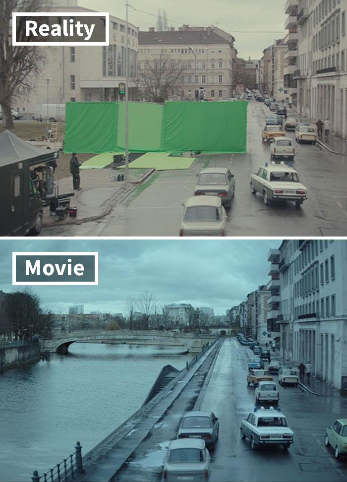 4 5c6d45157edff 700 17 Famous Movie Scenes Before And After CGI