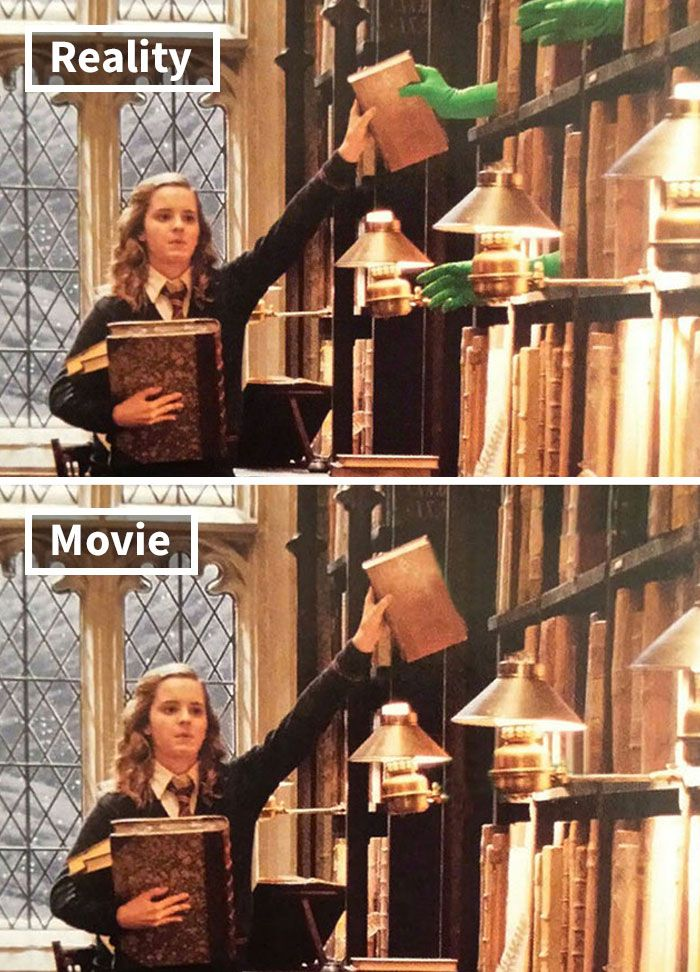 5 5c6d4529cdc93 700 17 Famous Movie Scenes Before And After CGI