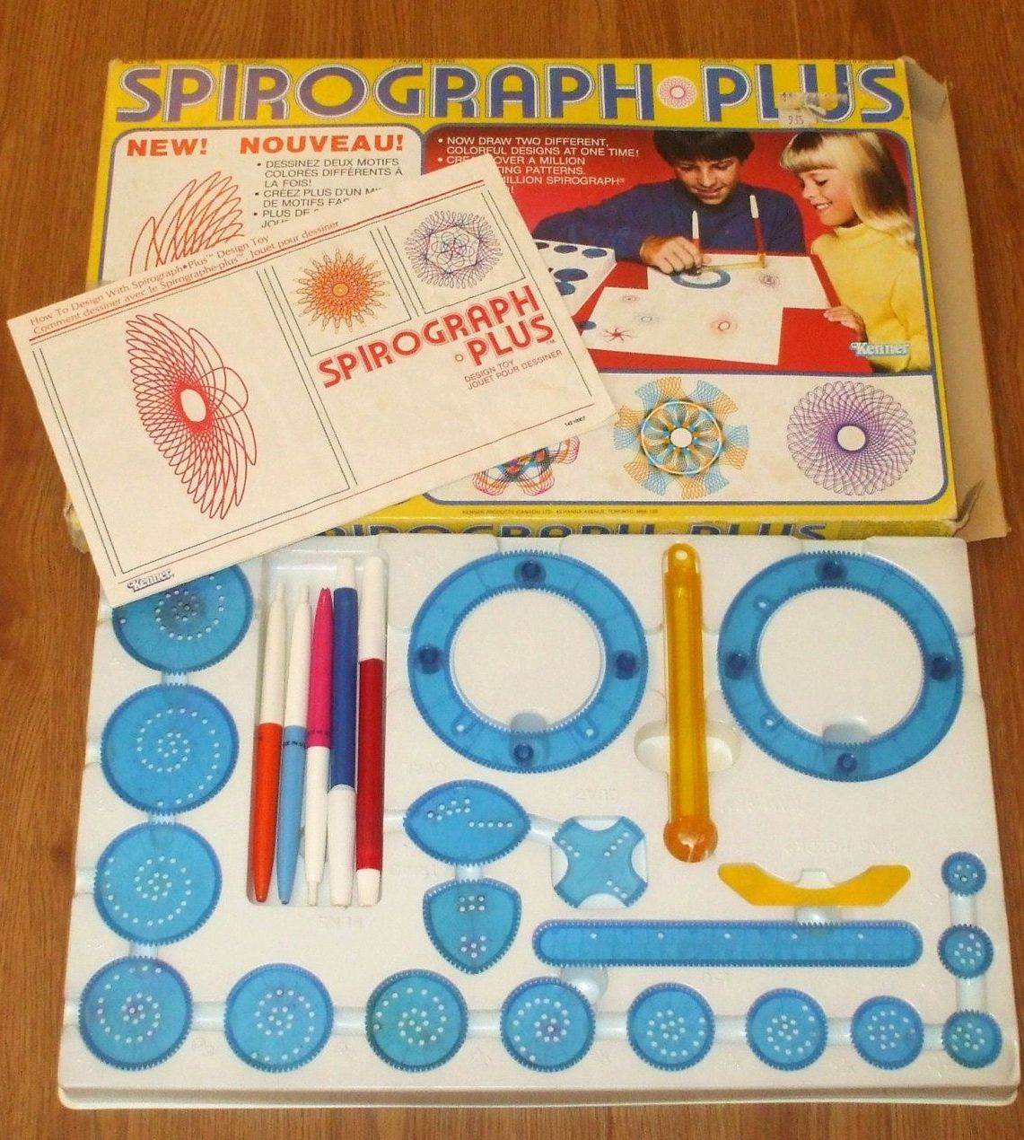 A Spirograph Plus box from the 1980s