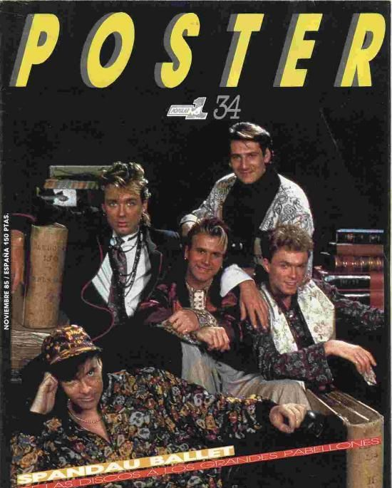 Spandau Ballet poster from the 1980s