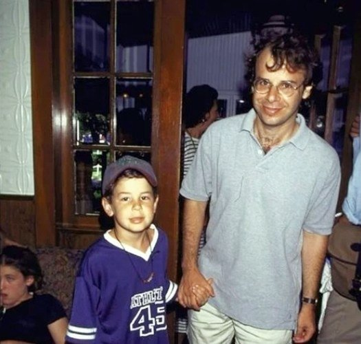 Rick Moranis with son Mitchell Moranis in 1996