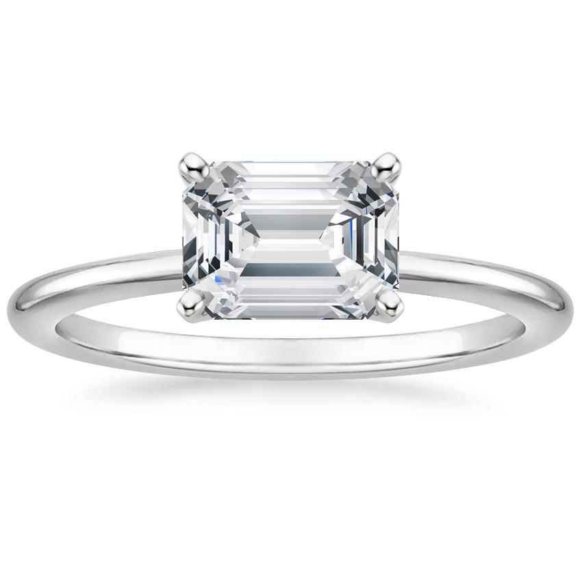 BE1815 horizontalpeg Emerald white carat 125 15 Of The Most Popular Wedding Ring Trends Right Now