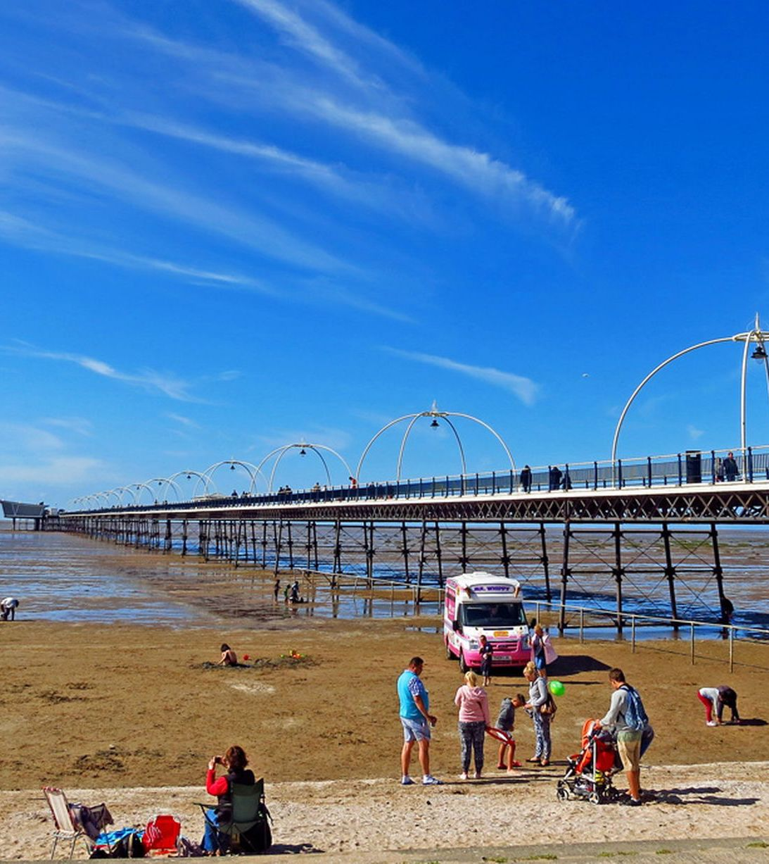 Southport beach and pier