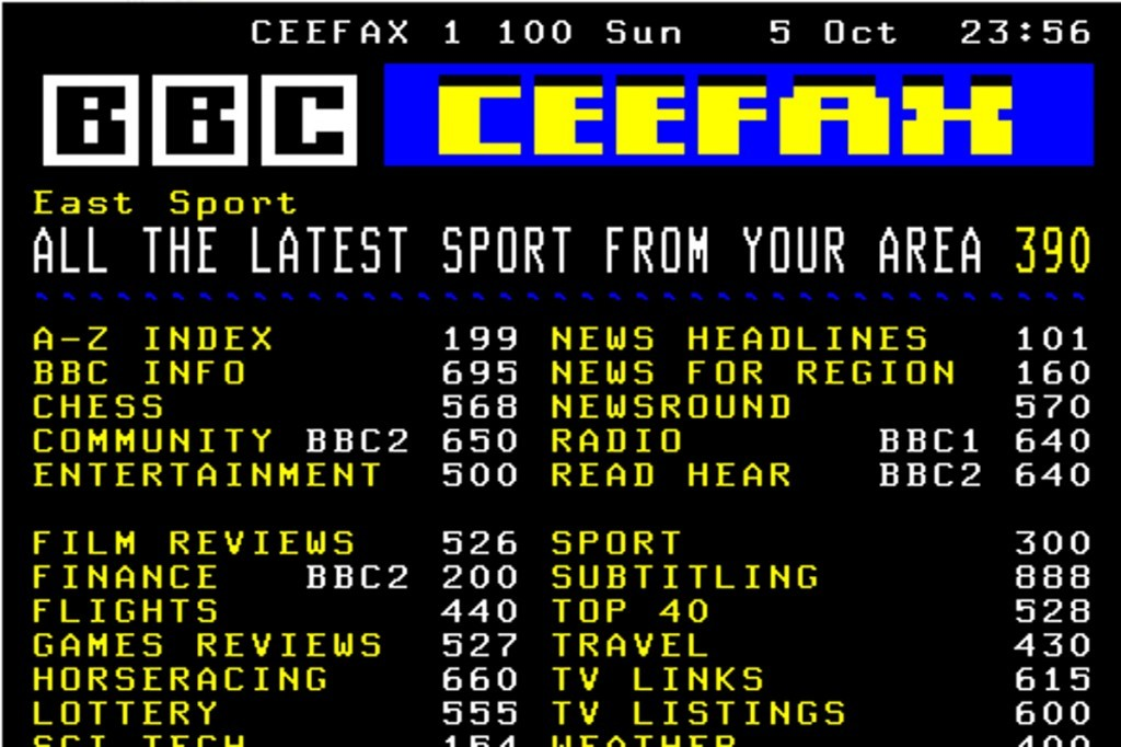 Ceefax 20 Things That Only British 90s Kids Will Understand