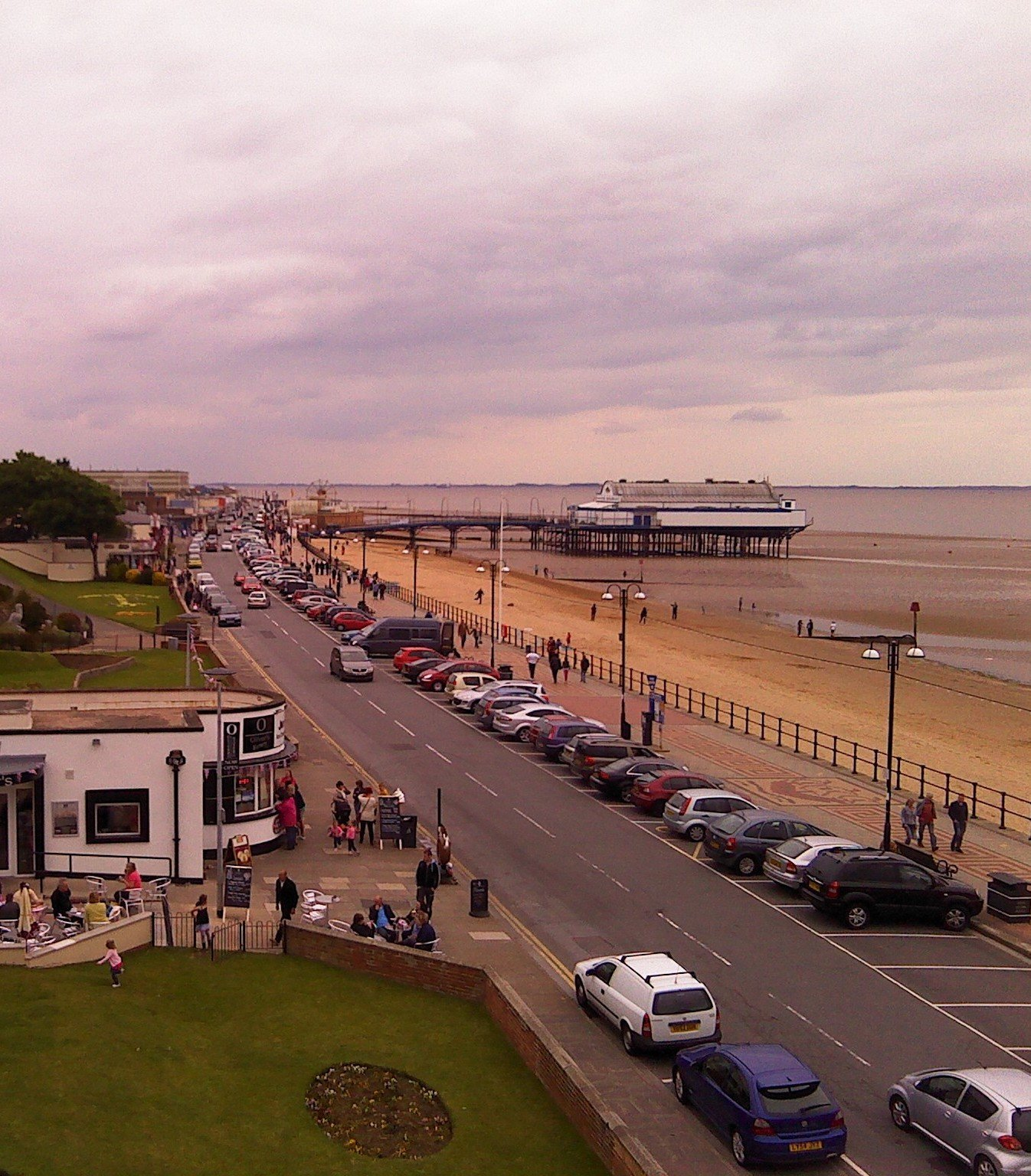 Cleethorpes beachfront and pier