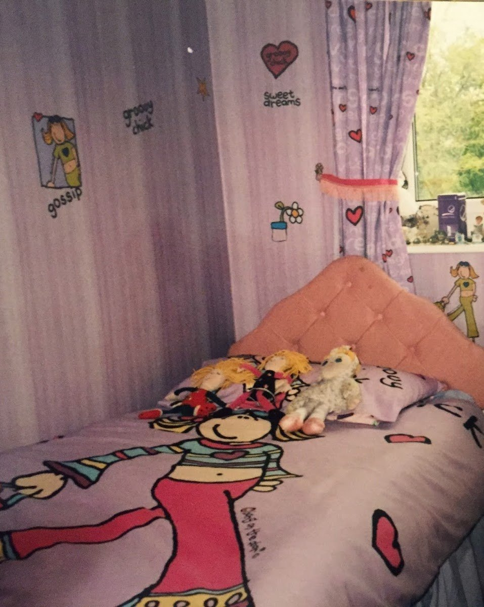 A Groovy Chick themed bedroom from the 1990s