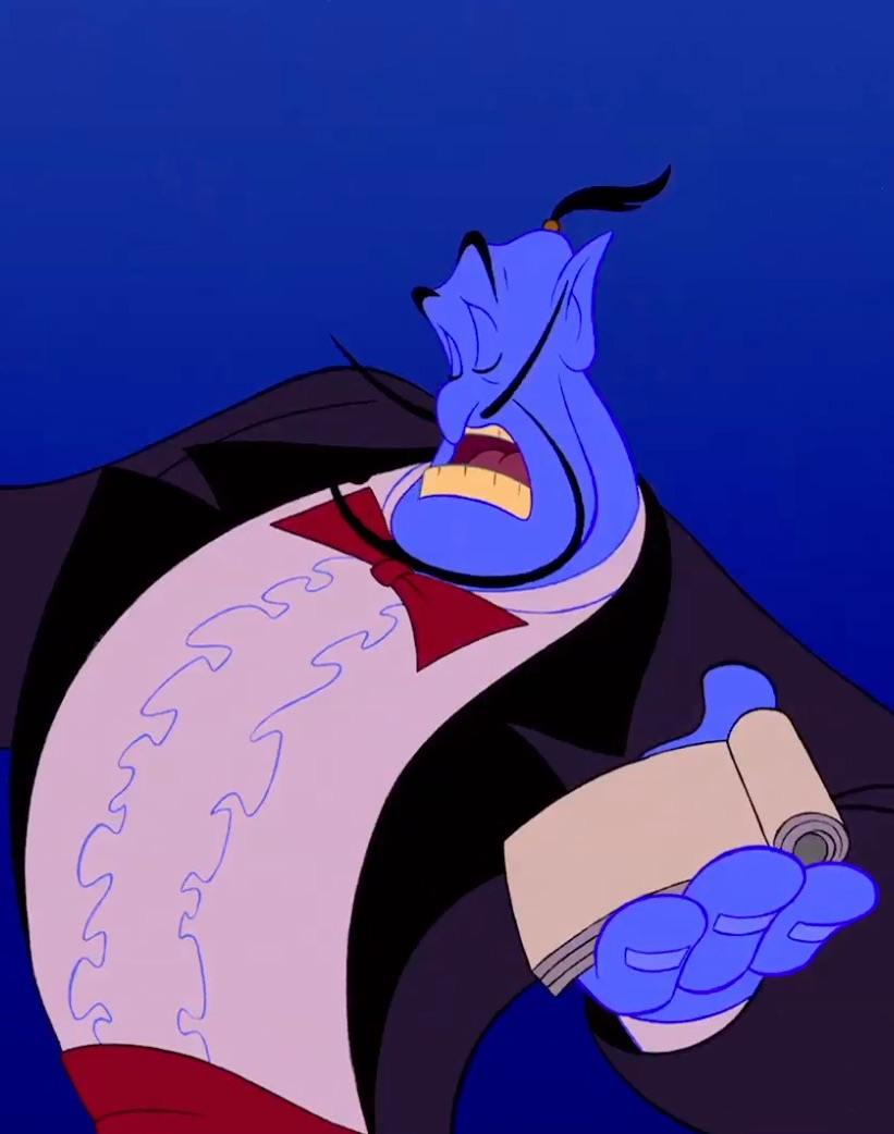 Genie Black Tuxedo Waiter 20 Things You Never Knew About Disney's Aladdin