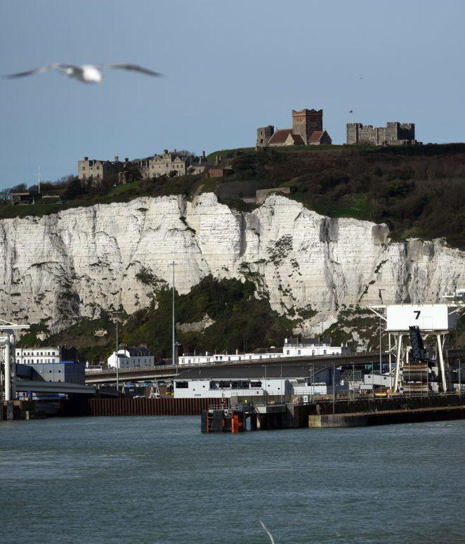White cliffs at Dover