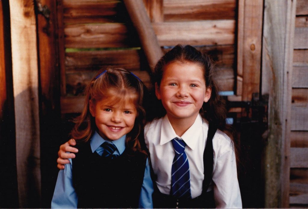 Holly 5 and Kelly 7.5 in school uniform copyright Kelly Willoughby.j... 7 Things You Didn't Know About Holly Willoughby and Phillip Schofield