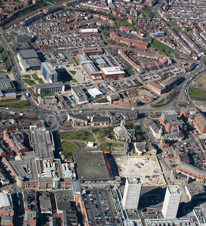 Bird's eye view of Sunderland
