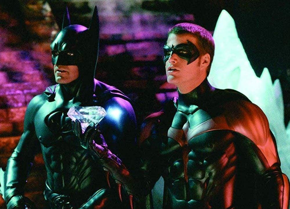 George Clooney Batman Chris O'Donnell Dick Grayson Robin 1997