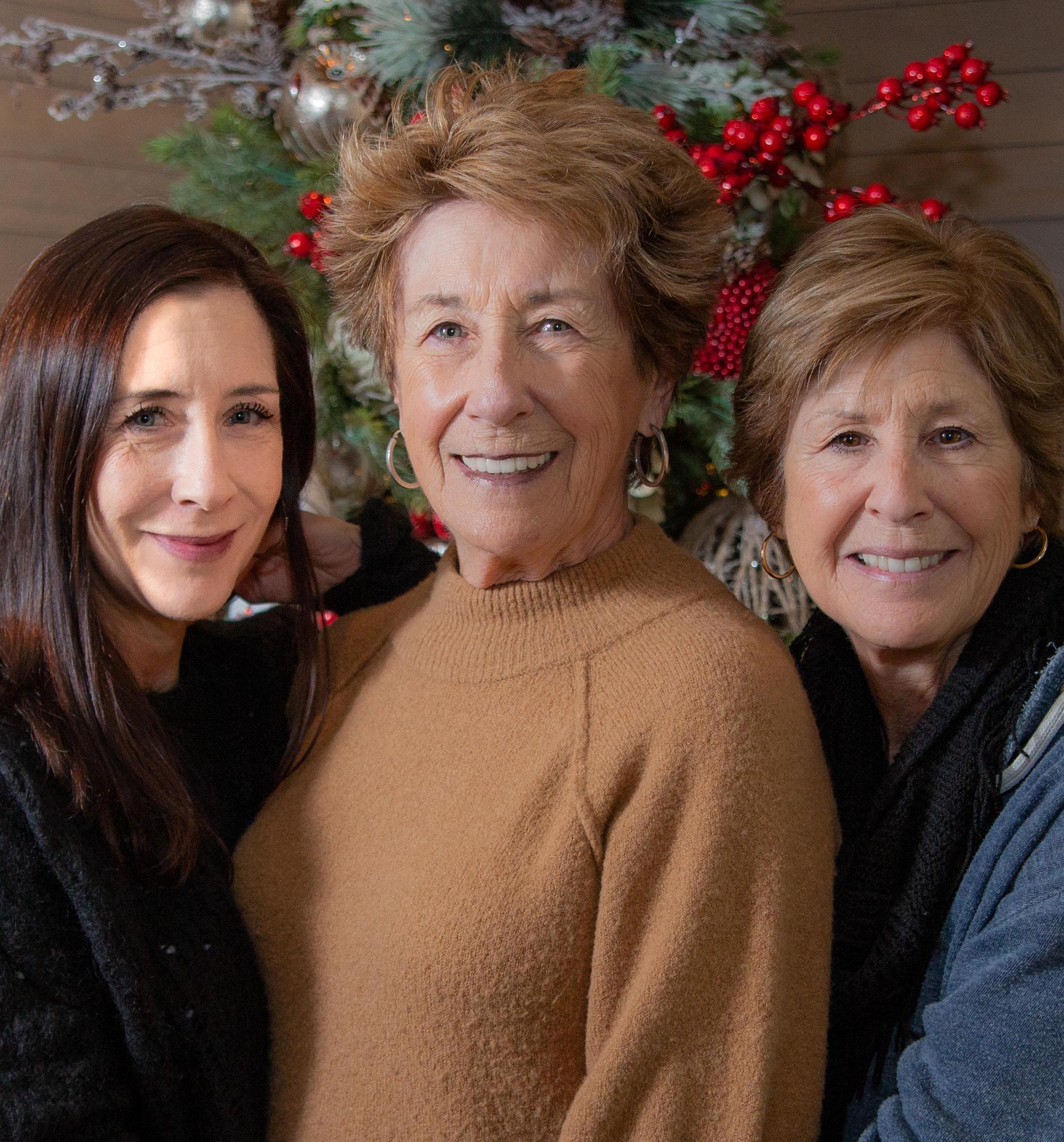 Ellen Travolta with niece Molly and sister Margaret