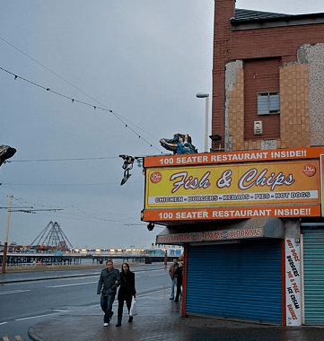 Fish and chip restaurant, Blackpool